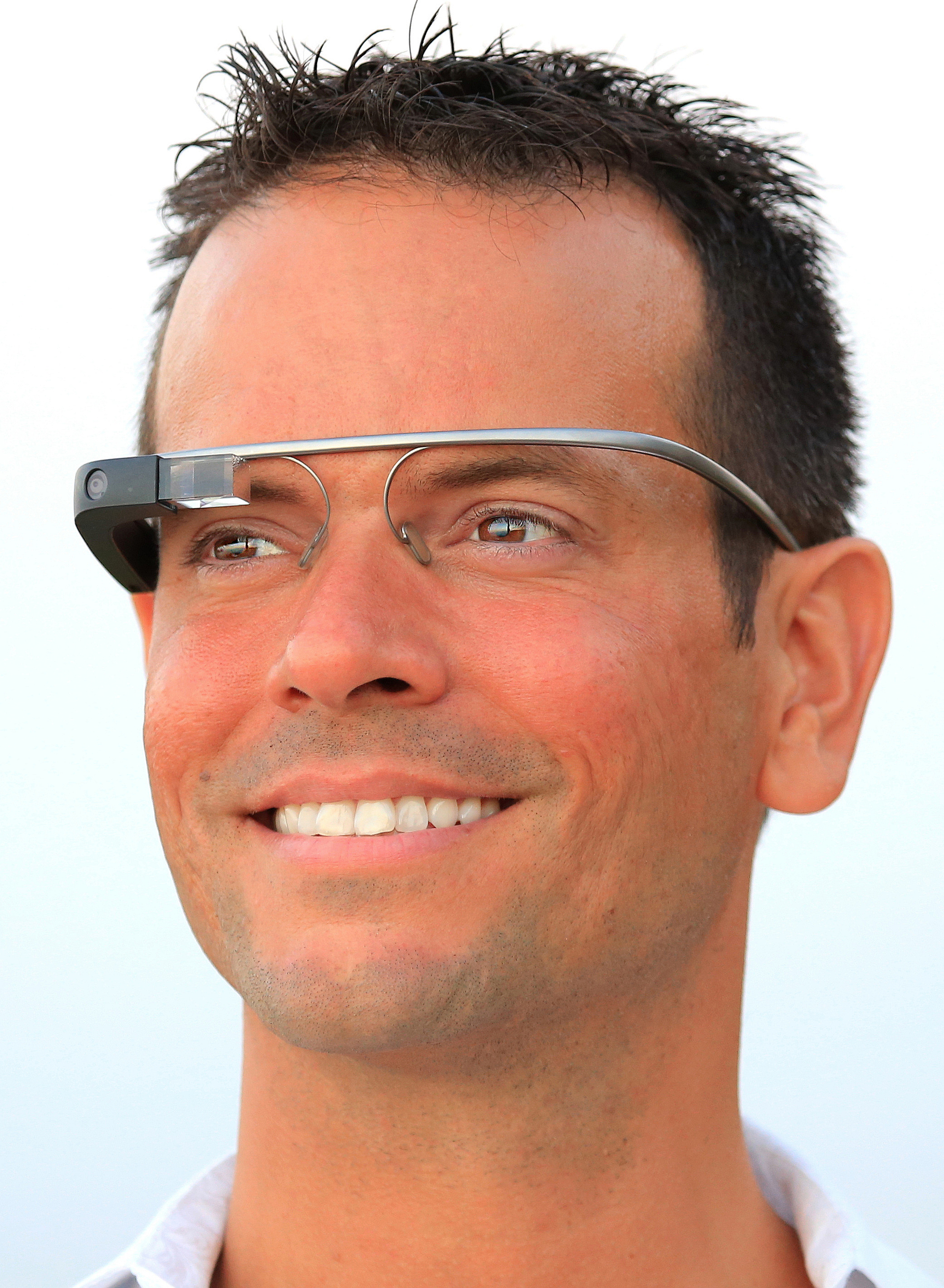 Ned Sahin with Google Glass